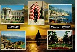 Monaco Monte Carlo 5 Vues ( Guérite... - Palazzo Dei Principi