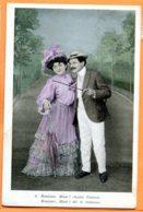 FR665, Femme Avec Un Parapluie, Homme Avec Une Canne, Chapeau, 6, Circulée 1913 - Couples