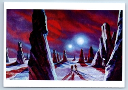 IN THE WORLD OF TWO SUNS Soviet Cosmos Space New Postcard - Espace