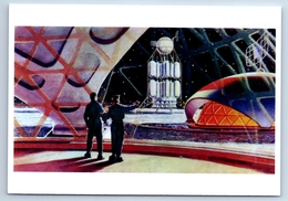 INSIDE THE LUNAR COSMODROME Soviet Cosmos Space New Postcard - Espace