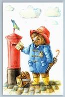 Paddington Bear Sending Letters Bird Art Russian Modern Postcard - Animals