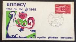 D322 Haute Savoie «Annecy Fête Du Lac 1969» 1598 Europa 2-3/8/1969 - Marcophilie (Lettres)