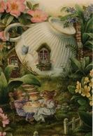 SUSAN WHEELER HOLLY POND HILL. TEATIME Tea Cup Russian Modern Postcard - Animals