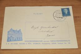 2-   BEDRIJFSKAART, NOORDERBAZAR ANNEX GESCHENKENHUIS, WORKUM - 1952 - Kaarten