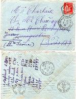 Lettre (LAC) Adressée De SAINTE COLOMBE (Htes Alpes) Beau Cachet Octogonal A JUSSEY (Hte Saone) (112727) - 1932-39 Vrede