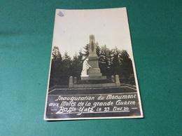 YUTZ. Inauguration Du Monument Aux Morts De La Grande Guerre CARTE PHOTO Schwarz - France