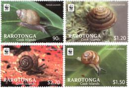 Ref. 274991 * NEW *  - RAROTONGA . 2012. SNAILS. CARACOLES - Islas Cook
