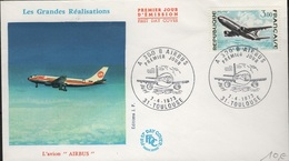 FDC 340 - FRANCE N° 1751 Airbus Sur  FDC 1973 - FDC