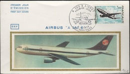 FDC 341 - FRANCE N° 1751 Airbus Sur  FDC 1973 - FDC