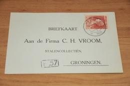 74-   BEDRIJFSKAART, FIRMA C.H. VROOM - GRONINGEN - 1925 - Kaarten