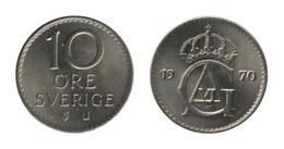 Sweden / 1970 / 10 Ore / Km: 835 / AUNC - Suède