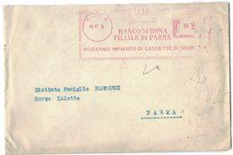 AP12   Regno 1935 Red Meter, Freistempel, EMA, Affrancatura Rossa, Parma, Banco Di Roma Filiale Di Parma - Affrancature Meccaniche Rosse (EMA)