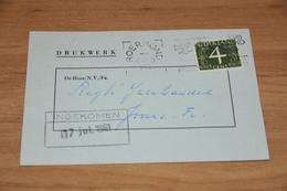 9-   DRUKWERK, H. CILLEKENS, AGENTUREN - ROERMOND - 1961 - Kaarten
