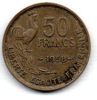 50 Francs 1958  -  état  TTB - M. 50 Francs