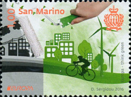 Ref. 360340 * NEW *  - SAN MARINO . 2016. EUROPA CEPT 2016 - ECOLOGIA EN EUROPA - PIENSA EN VERDE - San Marino