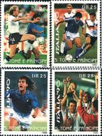 Ref. 72067 * NEW *  - SAO TOME AND PRINCIPE Islands . 1990. FOOTBALL WORLD CUP. ITALY-90. COPA DEL MUNDO DE FUTBOL. ITAL - Sao Tomé E Principe