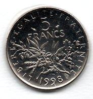-  5 Francs 1998  -  état  FDC - J. 5 Francs