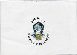 Carton D'invitation , 10.5x15cm  Bon Etat , Voir Tous Les Scanners De Cette Carte ,  Amicale Plongeurs Démineurs - Krieg