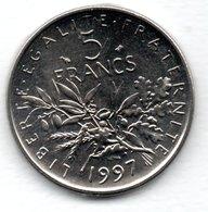 -  5 Francs 1997  -  état  FDC - France