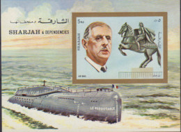 Ref. 180600 * NEW *  - SHARJAH . 1972. CHARLES DE GAULLE. CHARLES DE GAULLE - Sharjah