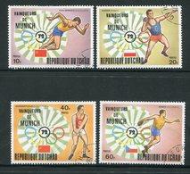 TCHAD- Y&T N°278 à 281- Oblitérés (J.O Munich) - Tchad (1960-...)