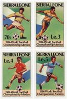 Ref. 41344 * NEW *  - SIERRA LEONE . 1986. FOOTBALL WORLD CUP. MEXICO-86. COPA DEL MUNDO DE FUTBOL. MEXICO-86 - Sierra Leona (1961-...)