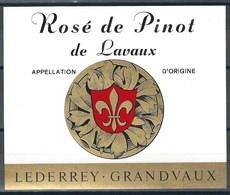 Etiquette De Vin Du Canton De Vaud  * Lavaux - Rosé De Pinot  * - Etiquettes
