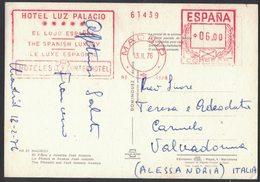 AP14  Spain,Espana Red Meter / Freistempel / EMA 1976 Madrid, Hotel Luz Palacio - Marcofilia - EMA ( Maquina De Huellas A Franquear)