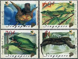 Ref. 65915 * NEW *  - SINGAPORE . 1999. REPTILES AND AMPHIBIA. REPTILES Y ANFIBIOS - Singapur (1959-...)