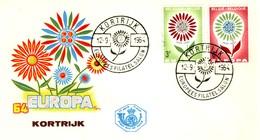 BELGIO - 1964 - FDC - Europa - Fiore Con 22 Petali. - FDC