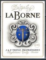 Etiquette De Vin Du Canton De Vaud  * Dézaley - La Borne  * - Etiquettes