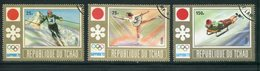 TCHAD- Y&T N°250 à 252- Oblitérés (J.O Sapporo) - Tchad (1960-...)