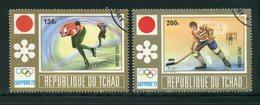 TCHAD- P.A Y&T N°113 Et 114- Oblitérés (J.O Sapporo) - Tchad (1960-...)