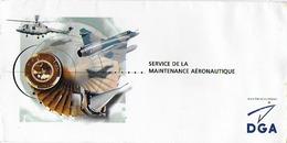 Carton  De Meilleurs Voeux Pour L'année 2000   D.G.A. , Bon Etat ,10.5x21cm ,  Voir Tous Les Scanners - Guerre