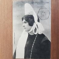 Jeune Fille De Pont-l'Abbé.coiffe Costume Breton.édition Villard 1886 - Pont L'Abbe