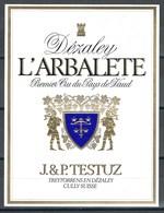 Etiquette De Vin Du Canton De Vaud  * Dézaley - L'Arbalète  * - Etiquettes
