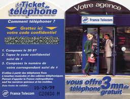 TICKET Téléphone  =  Votre Agence 9/99 - Frankrijk