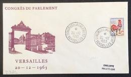 D324 Seine Et Oise «Versailles Congrès Du Parlement» 1331 Coq Decaris 20/12/1963 - Marcophilie (Lettres)