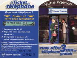 TICKET Téléphone  =  Votre Agence 11/99 - France