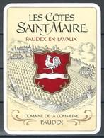 Etiquette De Vin Du Canton De Vaud  * Paudex -  Les Côtes Saint-Maire  * - Etiquettes