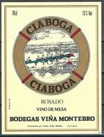 Etiquette De Vin D' Espagne  * Ciaboga - Rosado  * - Etiquettes