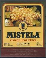 Etiquette De Vin D' Espagne  * Mistela  * - Etiquettes