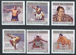 Comores YT 1999-2004 XX / MNH Sumo Sport Akebono Hakuho Chiyonofuji Asahoryu - Comores (1975-...)