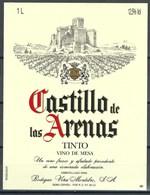 Etiquette De Vin D' Espagne  * Castillo De Los Arenas  * - Etiquettes