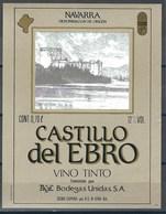 Etiquette De Vin D' Espagne  * Castillo Del Ebro  * - Etiquettes