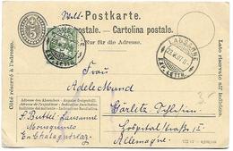 164 - 85 - Entier Postal Avec Valeur Complémentaire - Cachets à Date Lausanne 1907 - Entiers Postaux
