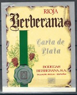 Etiquette De Vin D' Espagne  * Rioja - Berberana * - Etiquettes