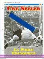 19/4 Fiche Football 25 X 18,5 Cm 2 Scans UWE SEELER ALLEMAGNE DEUTCHLAND SV BAMBURG HAMBOURG - Fussball