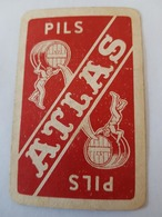 Anciennes Brasseries ATLAS, Anderlecht - Cureghem Pils Atlas Une Carte à Jouer Jeu Cartes - Barajas De Naipe