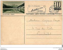 """8-60 - Entier Postal Avec Illustration """"Silvaplana"""" Superbe Oblit Mécanique Adelboden 1951 - Stamped Stationery"""